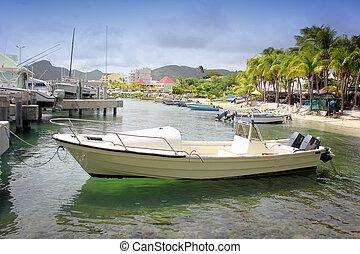 motor boat St. Maarten, Netherlands Antilles,west indies