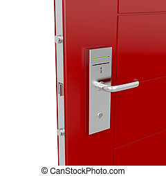 Keycard door - Entrance door with electronic keycard lock