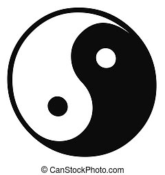 isolated ying yang sign