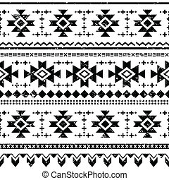 Tribal aztec vector retro seamless - Vector seamless aztec...