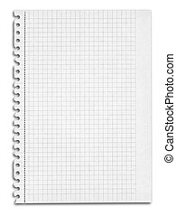 squared paper with shadow - sheet of squared paper with...