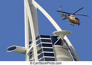 Burj Al Arab hotel - Dubai, United Arab Emirates - February...