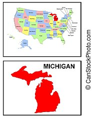 USA state of Michigan