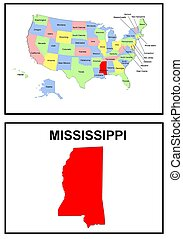 USA state of Missisippi