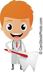 Dentist cartoon  - Vector Illustration of Dentist cartoon
