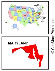USA state of Maryland