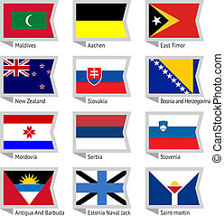 Flags of world-12 - Flags of world, flat vector...