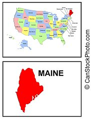 USA state of Maine