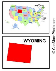USA state of Wyoming