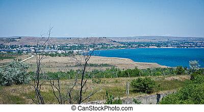 View of the bay Black Sea coast, Crimea