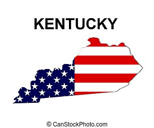 USA state of Kentucky in stars and stripes design