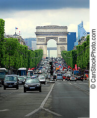Triumphal Arch - The Triumphal Arch Paris, France