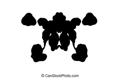 Rorschach test - Abstract shape psychological test board...
