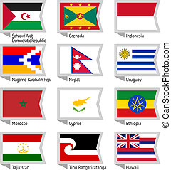 Flags of world-15 - Flags of world, flat vector illustration...