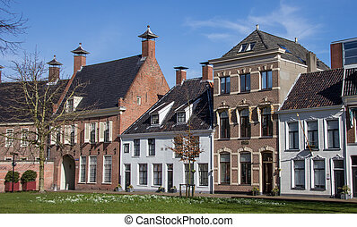 Old houses at the Martinihof in Groningen, Netherlands