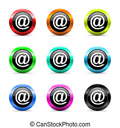 mail web icons set - web buttons set on white background