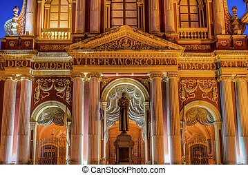 San Francisco in the city of Salta, Argentina - Basilica and...