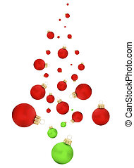 Christmas tree - Modern swish of a christmas tree with balls...