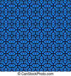 Vector art deco pattern with lacing shapes - Vector...