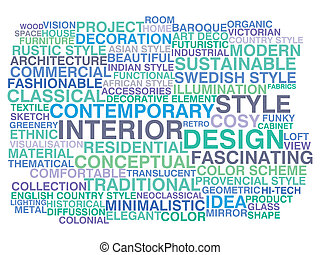 Interior design Word cloud concept