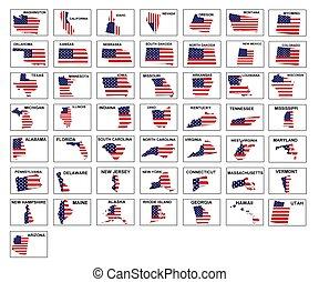 USA states icons