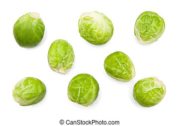 Brussels sprouts isolated on the white background