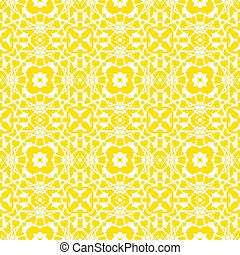 Vector geometric art deco pattern in bright yellow and white...