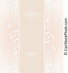 Pastel wedding invitation