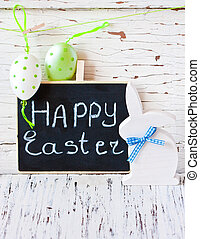 Easter - Easter composition with Easter bunny and decorative...