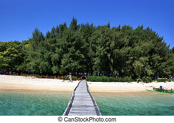exotic island - named panambungan island located Makassar...