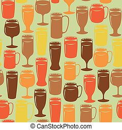 Seamless background with beer - Seamless vintage background...