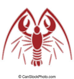lobster illustration clip art no mash na gradient
