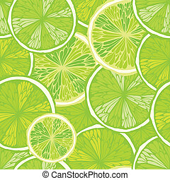 Seamless background with limes