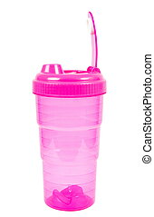 water container - training water bottle over white