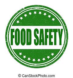 cibo, francobollo, sicurezza