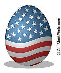 egg in stars & stripes design