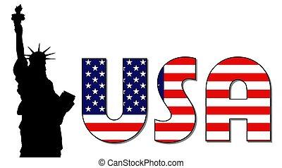 USA lady liberty