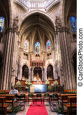 Church in Europe - The Interior of a church in Europe