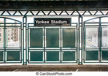 Yankee Stadium Train - New York City public train station...