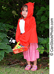 Little girl with Red Riding Hood costume - Little Jewish...