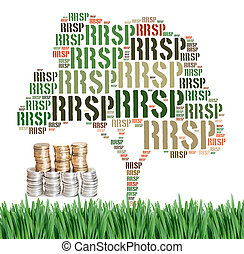 Canadian Registered Retirement Savings Plan concept word cloud