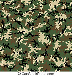 Seamless Camo Pattern - A seamless pattern of woodland...