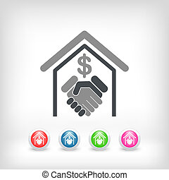Banking agreement icon