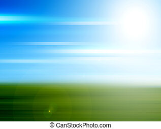 lLndscape - Abstract landscape with sky with sun....