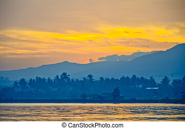 sunrise at Lovina beach Bali Indonesia - sunrise at Lovina...