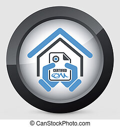 Certified building icon