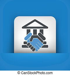 Courthouse agreement icon