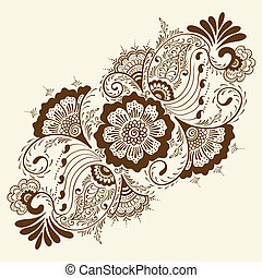 Vector abstract mehndi elements. - Vector abstract floral...