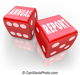 Annual Report Words Dice Gamble Bet Company Financial Results