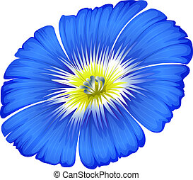 A blue blooming flower - Illustration of a blue blooming...